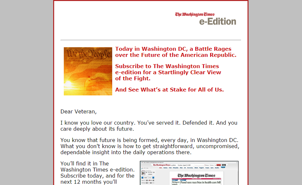 The Washington Times Email